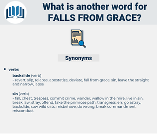 falls from grace, synonym falls from grace, another word for falls from grace, words like falls from grace, thesaurus falls from grace