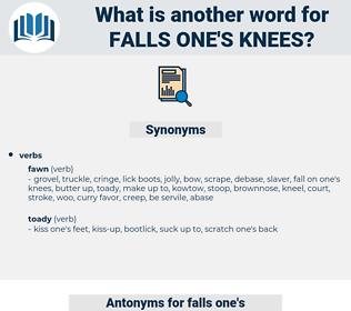 falls one's knees, synonym falls one's knees, another word for falls one's knees, words like falls one's knees, thesaurus falls one's knees
