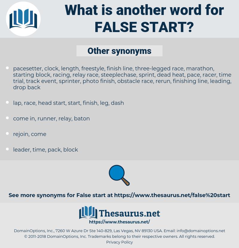 false start, synonym false start, another word for false start, words like false start, thesaurus false start
