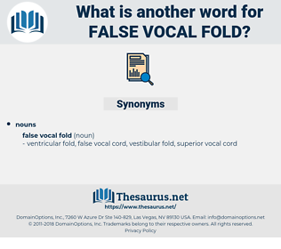 false vocal fold, synonym false vocal fold, another word for false vocal fold, words like false vocal fold, thesaurus false vocal fold