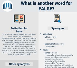 false, synonym false, another word for false, words like false, thesaurus false