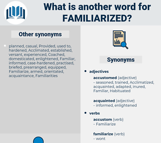Familiarized, synonym Familiarized, another word for Familiarized, words like Familiarized, thesaurus Familiarized