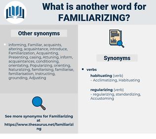 Familiarizing, synonym Familiarizing, another word for Familiarizing, words like Familiarizing, thesaurus Familiarizing
