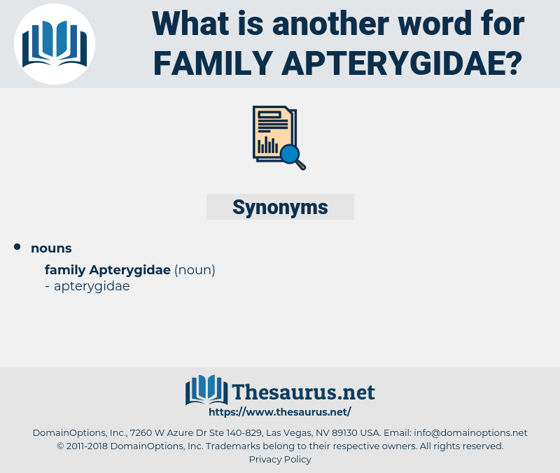Family Apterygidae, synonym Family Apterygidae, another word for Family Apterygidae, words like Family Apterygidae, thesaurus Family Apterygidae