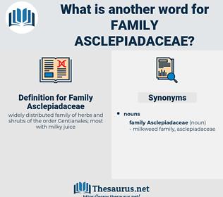 Family Asclepiadaceae, synonym Family Asclepiadaceae, another word for Family Asclepiadaceae, words like Family Asclepiadaceae, thesaurus Family Asclepiadaceae