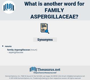 Family Aspergillaceae, synonym Family Aspergillaceae, another word for Family Aspergillaceae, words like Family Aspergillaceae, thesaurus Family Aspergillaceae