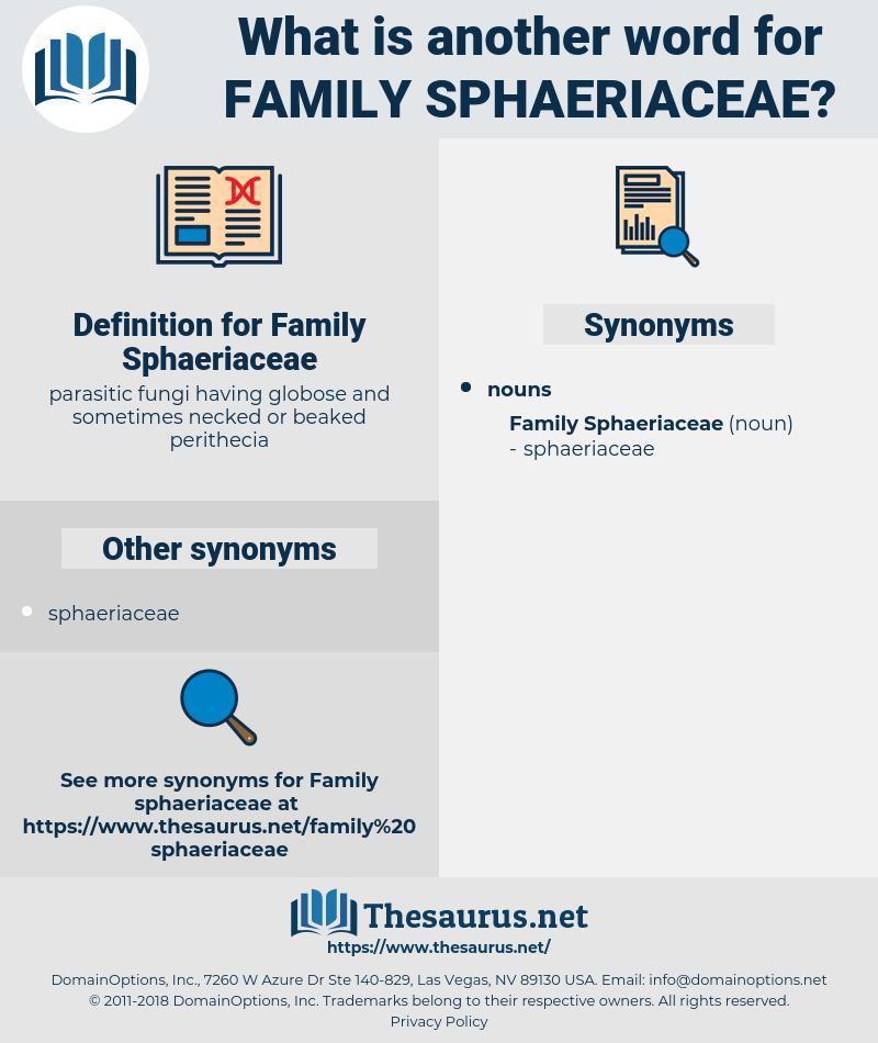 Family Sphaeriaceae, synonym Family Sphaeriaceae, another word for Family Sphaeriaceae, words like Family Sphaeriaceae, thesaurus Family Sphaeriaceae
