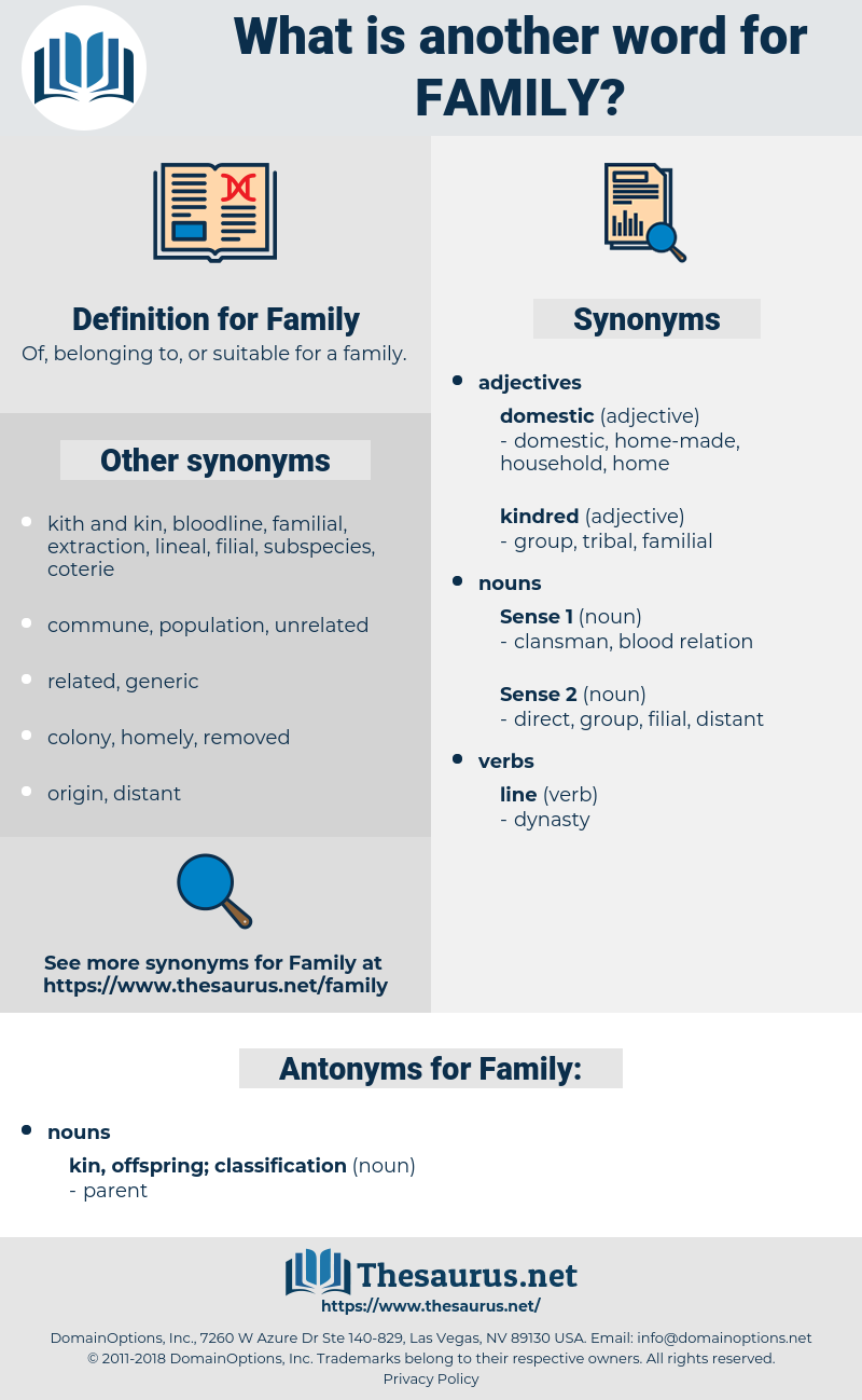 Family, synonym Family, another word for Family, words like Family, thesaurus Family