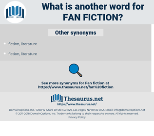 fan fiction, synonym fan fiction, another word for fan fiction, words like fan fiction, thesaurus fan fiction