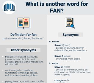 fan, synonym fan, another word for fan, words like fan, thesaurus fan