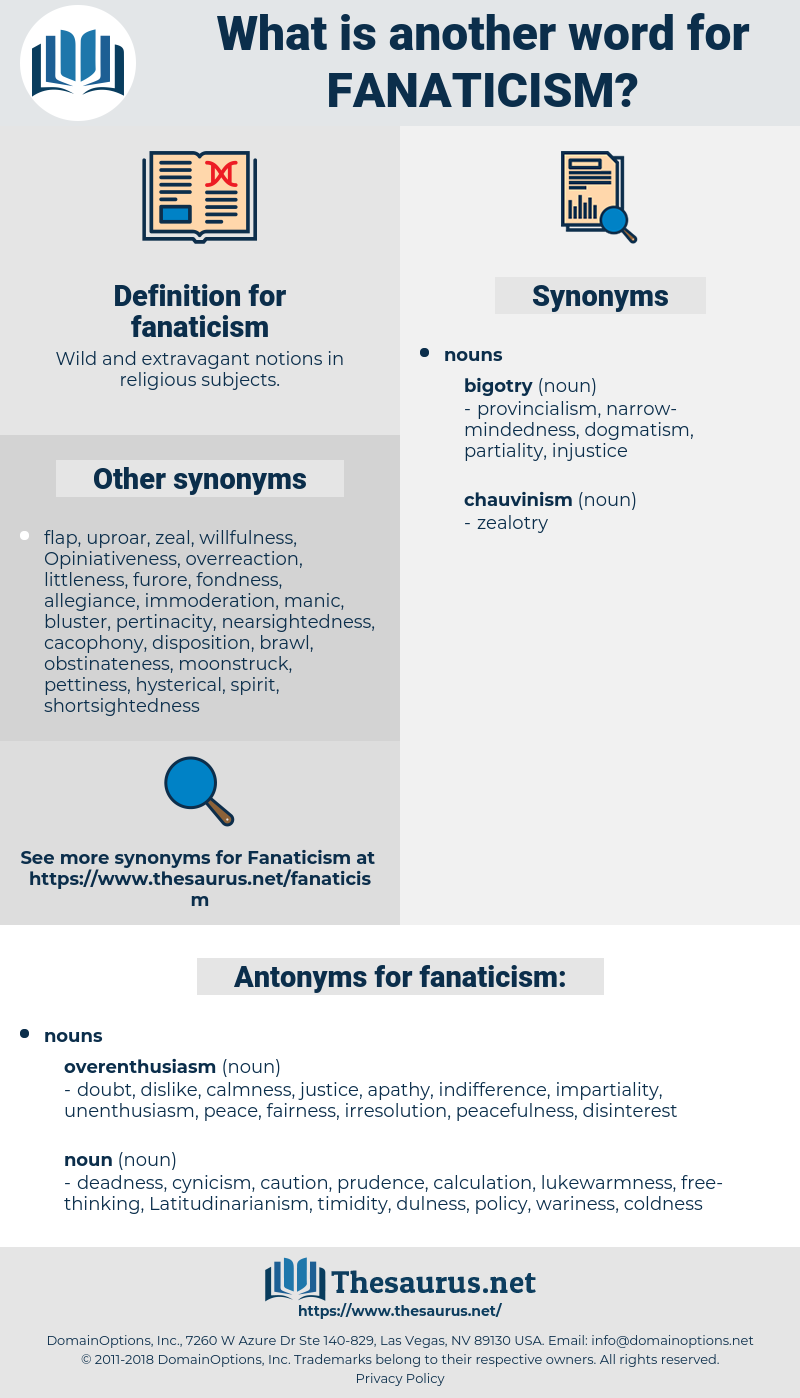 fanaticism, synonym fanaticism, another word for fanaticism, words like fanaticism, thesaurus fanaticism