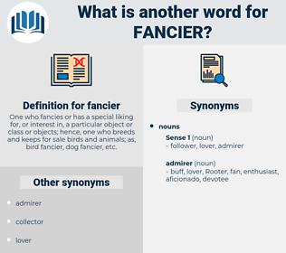fancier, synonym fancier, another word for fancier, words like fancier, thesaurus fancier