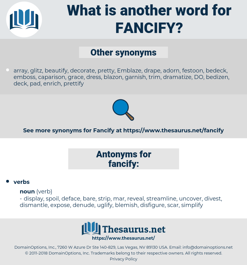 fancify, synonym fancify, another word for fancify, words like fancify, thesaurus fancify