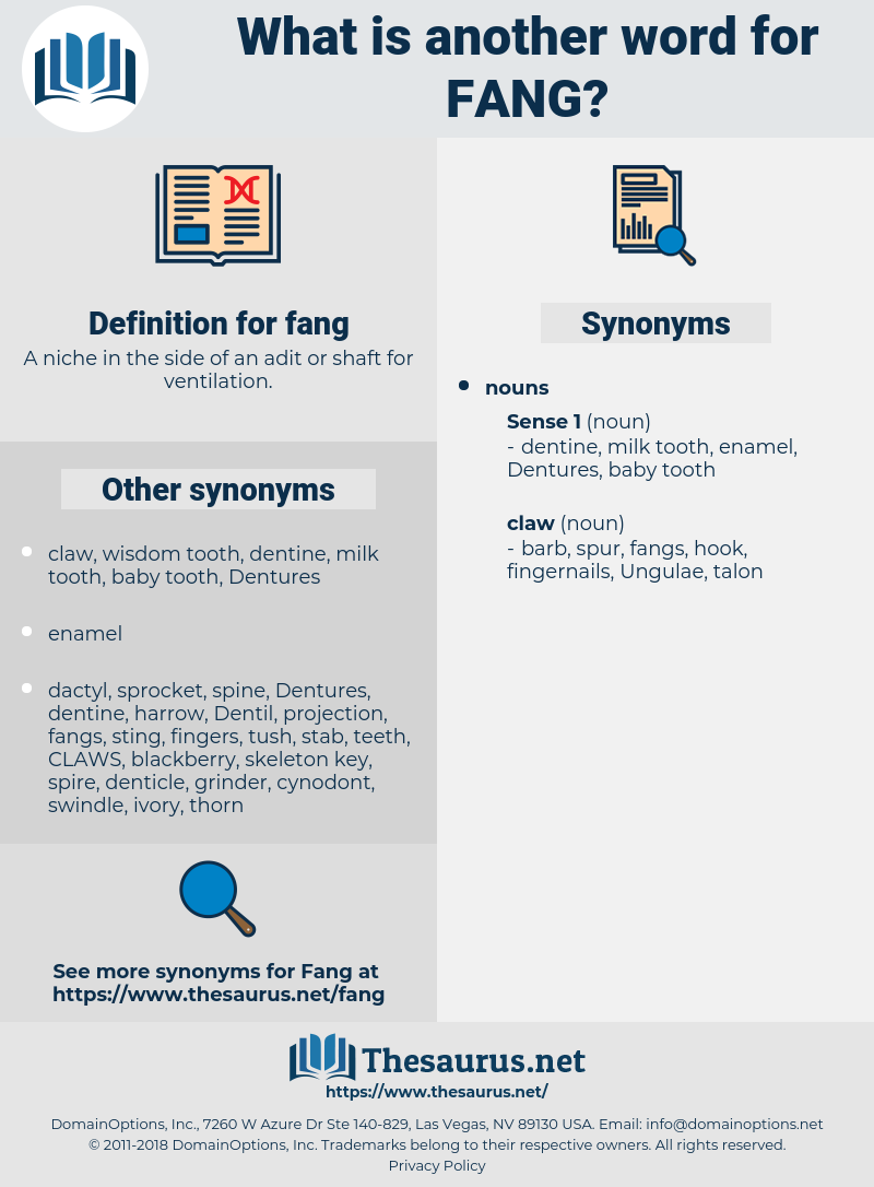 fang, synonym fang, another word for fang, words like fang, thesaurus fang