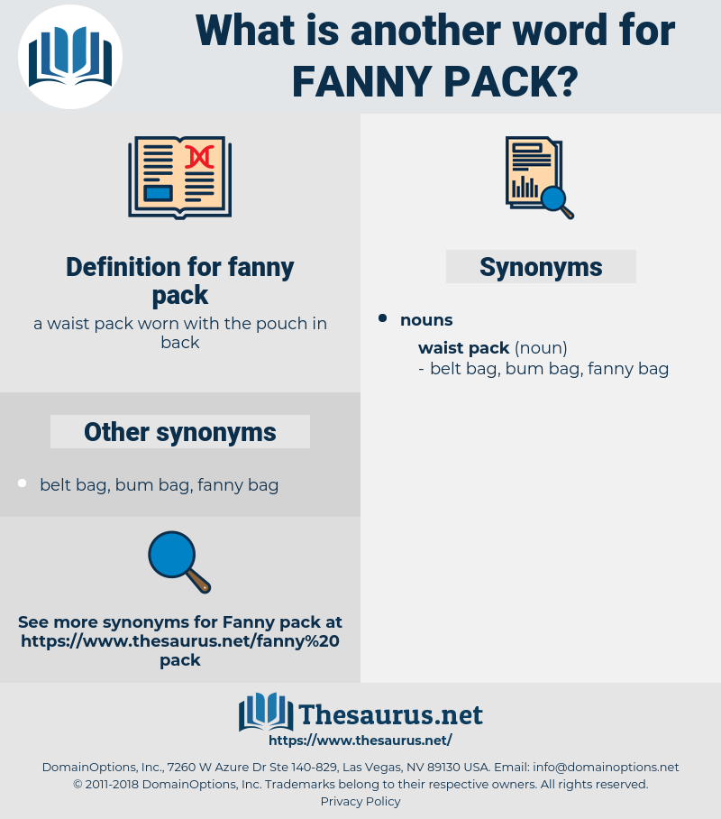fanny pack, synonym fanny pack, another word for fanny pack, words like fanny pack, thesaurus fanny pack