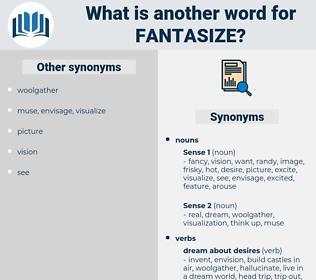fantasize, synonym fantasize, another word for fantasize, words like fantasize, thesaurus fantasize