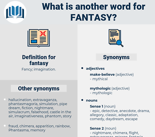 fantasy, synonym fantasy, another word for fantasy, words like fantasy, thesaurus fantasy