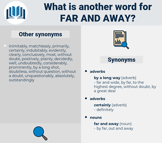far and away, synonym far and away, another word for far and away, words like far and away, thesaurus far and away
