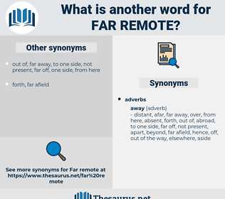 far remote, synonym far remote, another word for far remote, words like far remote, thesaurus far remote