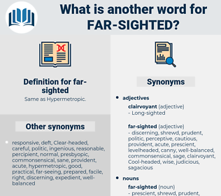 far sighted, synonym far sighted, another word for far sighted, words like far sighted, thesaurus far sighted