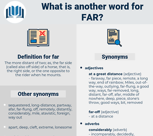far, synonym far, another word for far, words like far, thesaurus far