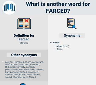 Farced, synonym Farced, another word for Farced, words like Farced, thesaurus Farced