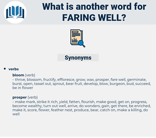 faring well, synonym faring well, another word for faring well, words like faring well, thesaurus faring well