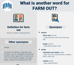 farm out, synonym farm out, another word for farm out, words like farm out, thesaurus farm out