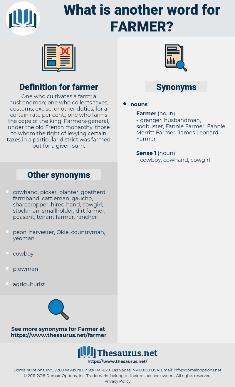 farmer, synonym farmer, another word for farmer, words like farmer, thesaurus farmer