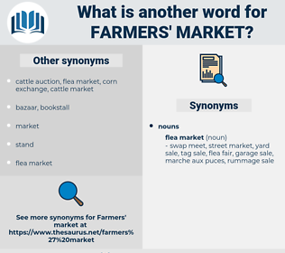 farmers' market, synonym farmers' market, another word for farmers' market, words like farmers' market, thesaurus farmers' market