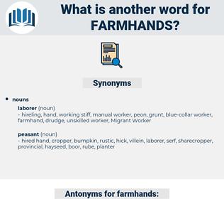 farmhands, synonym farmhands, another word for farmhands, words like farmhands, thesaurus farmhands
