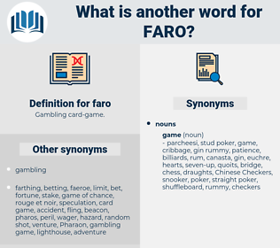 faro, synonym faro, another word for faro, words like faro, thesaurus faro