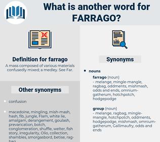 farrago, synonym farrago, another word for farrago, words like farrago, thesaurus farrago