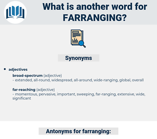 farranging, synonym farranging, another word for farranging, words like farranging, thesaurus farranging