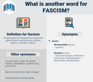 fascism, synonym fascism, another word for fascism, words like fascism, thesaurus fascism