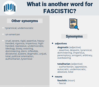 fascistic, synonym fascistic, another word for fascistic, words like fascistic, thesaurus fascistic