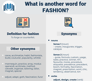 fashion, synonym fashion, another word for fashion, words like fashion, thesaurus fashion