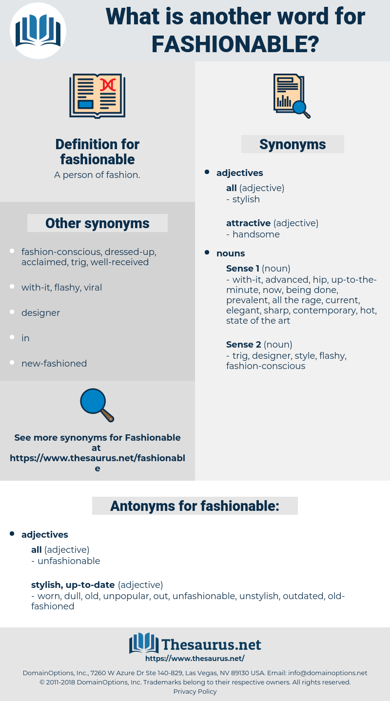 Synonyms For Fashionable Thesaurus Net