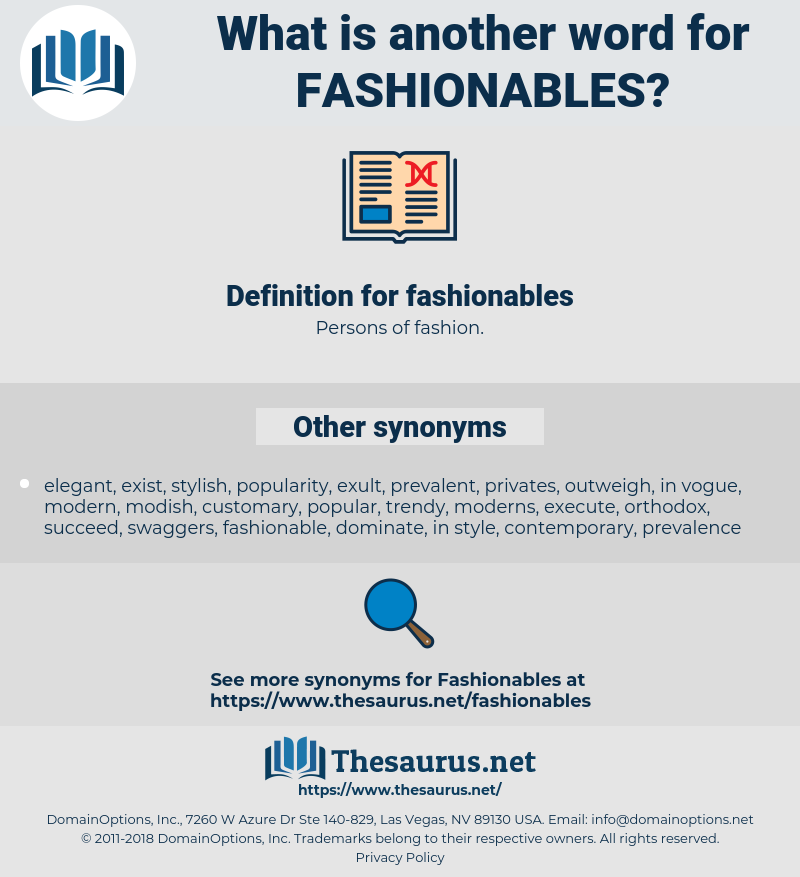 fashionables, synonym fashionables, another word for fashionables, words like fashionables, thesaurus fashionables