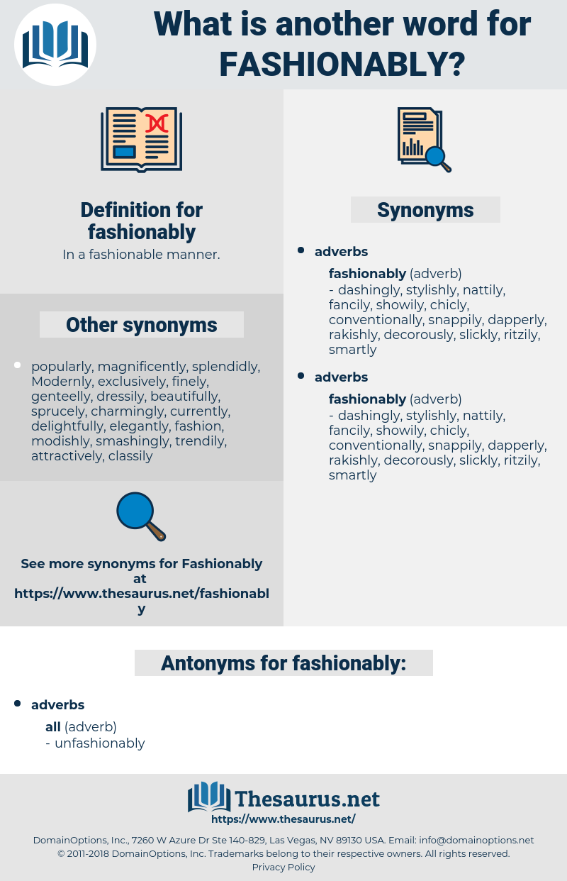 fashionably, synonym fashionably, another word for fashionably, words like fashionably, thesaurus fashionably