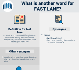 fast lane, synonym fast lane, another word for fast lane, words like fast lane, thesaurus fast lane
