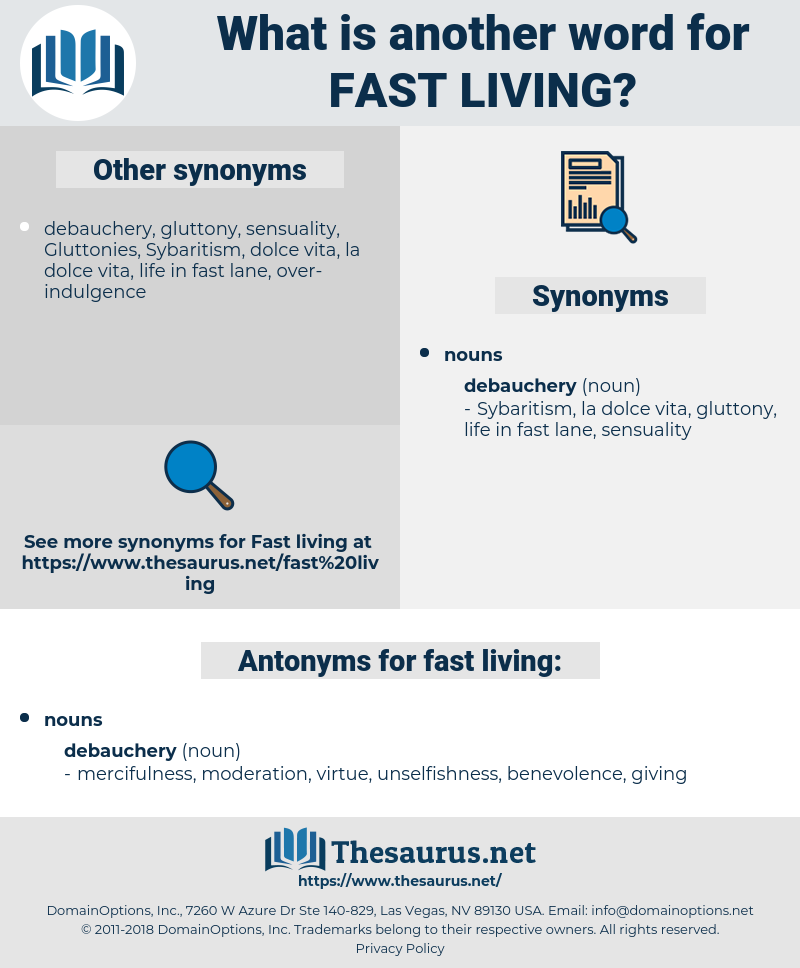 fast living, synonym fast living, another word for fast living, words like fast living, thesaurus fast living