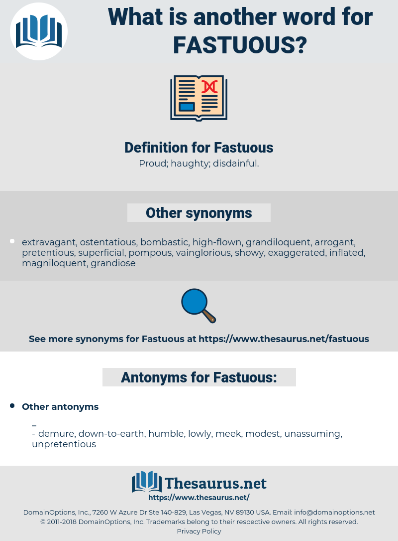 Fastuous, synonym Fastuous, another word for Fastuous, words like Fastuous, thesaurus Fastuous