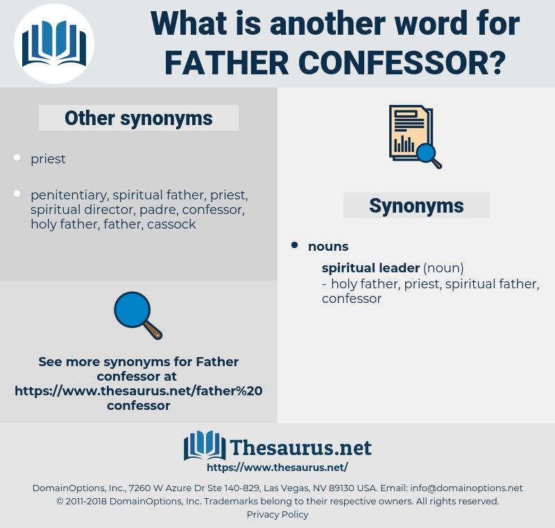 father confessor, synonym father confessor, another word for father confessor, words like father confessor, thesaurus father confessor