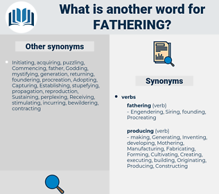 Fathering, synonym Fathering, another word for Fathering, words like Fathering, thesaurus Fathering