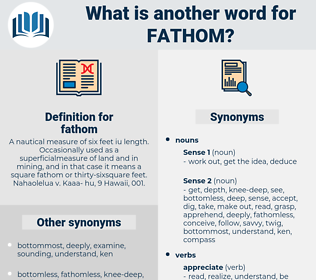 fathom, synonym fathom, another word for fathom, words like fathom, thesaurus fathom