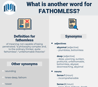 fathomless, synonym fathomless, another word for fathomless, words like fathomless, thesaurus fathomless