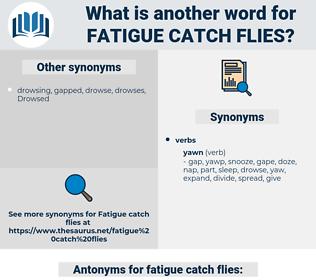 fatigue catch flies, synonym fatigue catch flies, another word for fatigue catch flies, words like fatigue catch flies, thesaurus fatigue catch flies