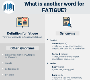 fatigue, synonym fatigue, another word for fatigue, words like fatigue, thesaurus fatigue