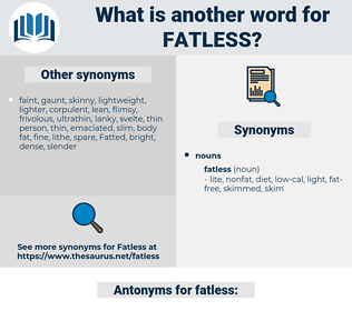 fatless, synonym fatless, another word for fatless, words like fatless, thesaurus fatless